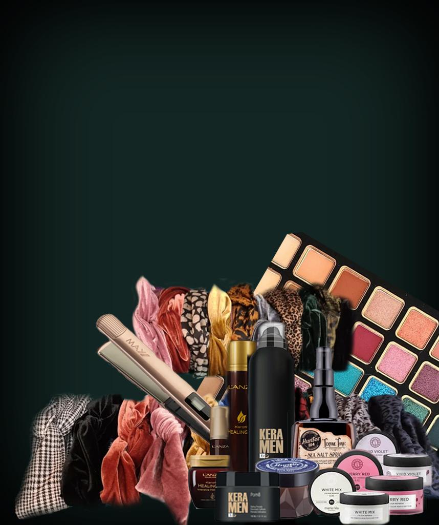 Bezoek ook eens onze webshop om jouw favoriete haarverzorgingsproducten, make-up en tools te bestellen